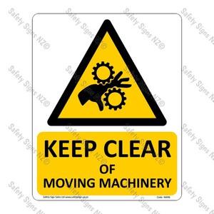 CYO WA96 – Keep Clear of Moving Machinery Sign