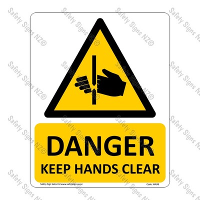 CYO|WA98 – Danger Keep Hands Clear Sign