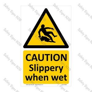CYO WG93 – Slippery When Wet Sign