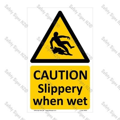CYO|WG93 – Slippery When Wet Sign