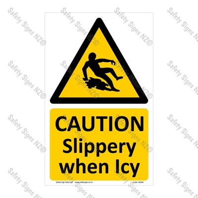 CYO|WG94 – Slippery When Icy Sign