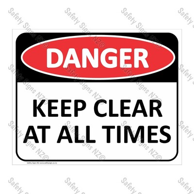 CYO|DA32 - Keep Clear At All Times Sign