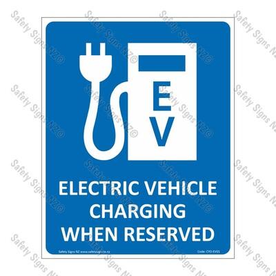 CYO|EV02 - Electric Vehicle Charging Sign