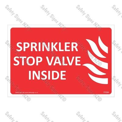 CYO|FFE08A - Sprinkler Control Valve Inside Label