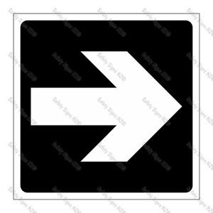 CYO|GA139B - Directional Arrow BLACK