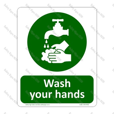 CYO|HY02 Wash Your Hands Sign