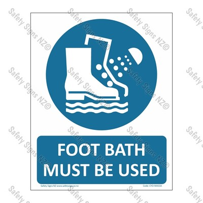 CYO|MA53A – Foot Bath Must Be Used Sign