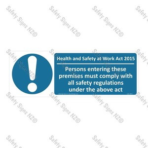 CYO|MA71A - Health And Safety at Work Act 2015 Sign (Premises)