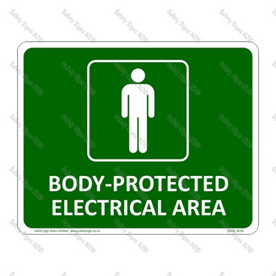 CYO|SC54 Body Protected Electrical Area Sign