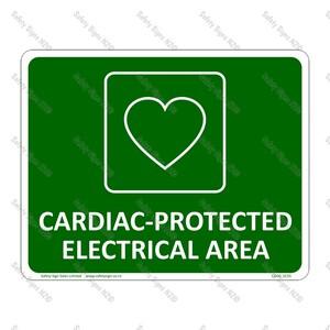 CYO|SC55 Cardiac Protected Area Sign