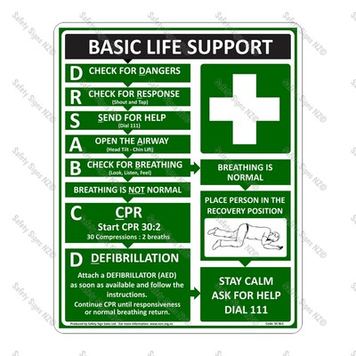 SC56 – Basic Life Support Sign