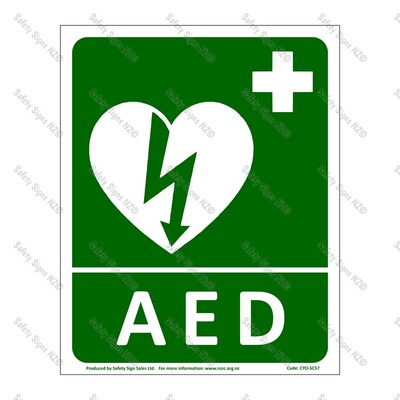 CYO|SC57 AED Location Sign