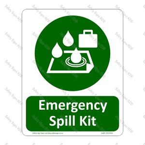 CYO|SC58 Emergency Spill Kit Sign