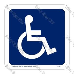 CYO|GA136 – Accessible Symbol Sign