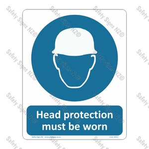 CYO|MA51 – Head Protection Must Be Worn Sign