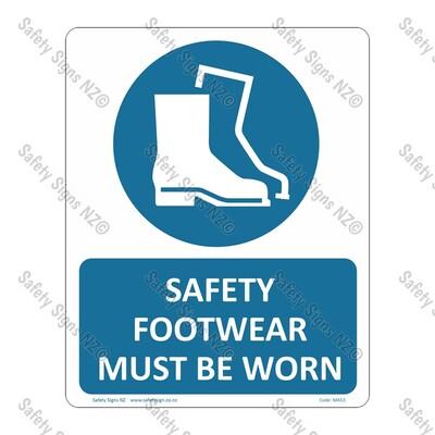 CYO|MA53 – Safety Footwear Must Be Worn Sign