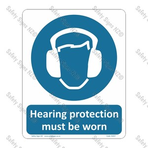 CYO|MA57 – Hearing Protection Must Be Worn Sign