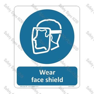 CYO|MA58 – Wear Face Shield Sign