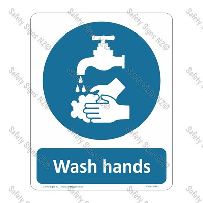 CYO|MA61 - Wash Hands Sign
