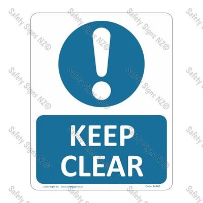 CYO|MA62 – Keep Clear Sign