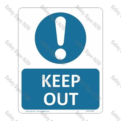 CYO|MA63 – Keep Out Sign