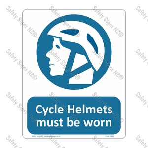 CYO|MA66 – Cycle Helmets Must be Worn Sign