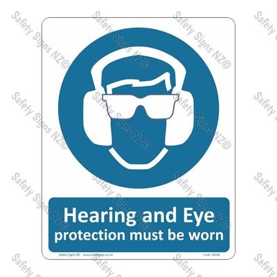 CYO|MA68 – Hearing & Eye Protection Must be Worn Sign