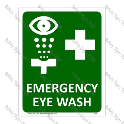 SC45 – Emergency Eye Wash Sign