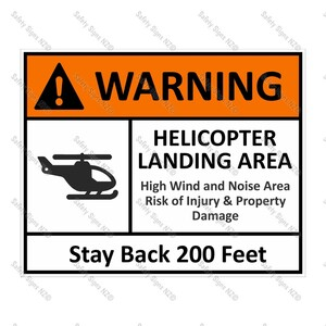 CYO|HS01 - Helicopter Safety Sign