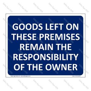 CYO|GA158 - Owner Responsibility Sign