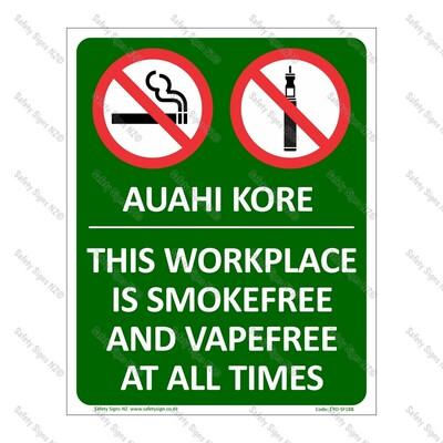 CYO|SF18B - Smokefree Workplace Bilingual Sign