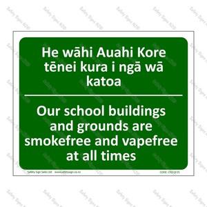 CYO|SF25 - Smokefree School Bilingual Sign