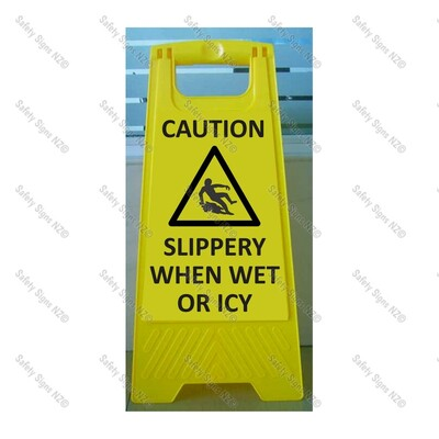 CYO|WG98A – Slippery When Wet + Icy Sign