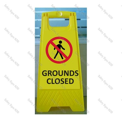 CYO|WG98R2 - Grounds Closed Sign