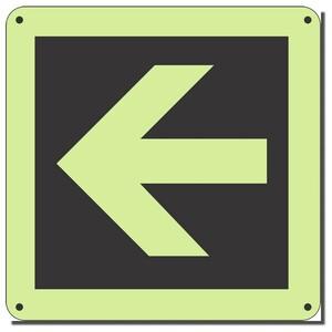 PLARR - Right Arrow Photoluminescent Sign