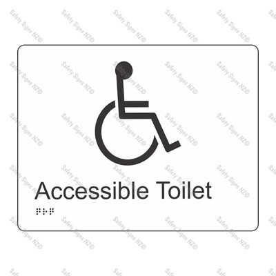 CYO|BR01 - Accessible Toilet Braille Sign 220 x 160mm