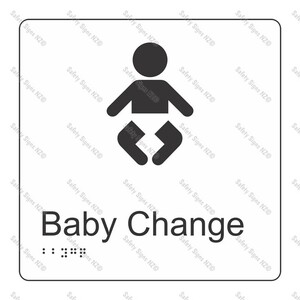 CYO BR03 - Baby Change Braille Sign 160 x 160mm