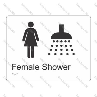 CYO|BR04 - Female Shower Braille Sign 220 x 160mm