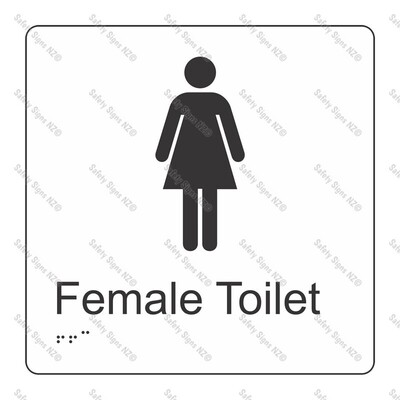 CYO|BR05 - Female Toilet Braille Sign 160 x 160mm