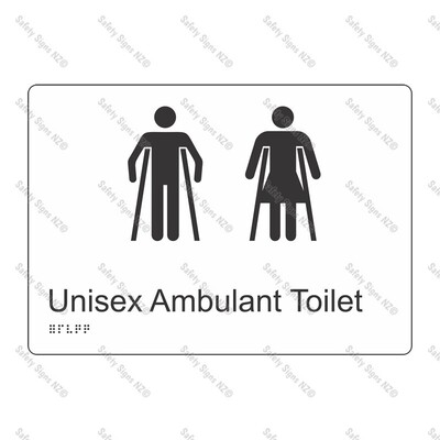 CYO|BR14 - Unisex Ambulant Toilet Braille Sign 270 x 180mm