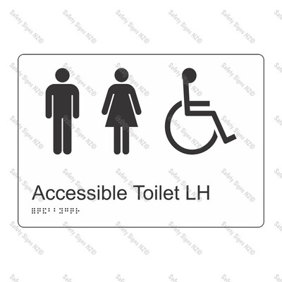 CYO|BR16 - Accessible Toilet LH Braille Sign 270 x 180mm