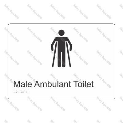CYO|BR18 - Male Ambulant Toilet Braille Sign 270 x 180mm