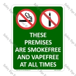 Premises Smokefree and Vapefree Sign