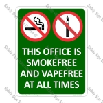 Office Smokefree and Vapefree Sign